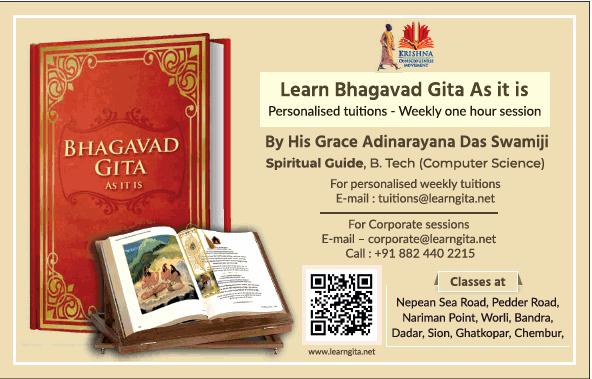 Bhagavad Gita classes in Mumbai