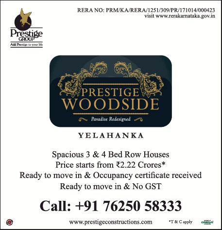 Prestige Woodside Bangalore