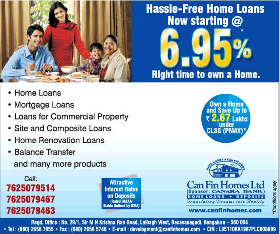 Can fin homes ltd Bangalore