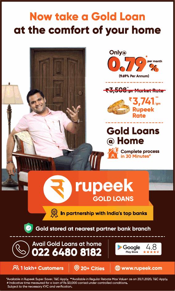 Rupeek gold loans
