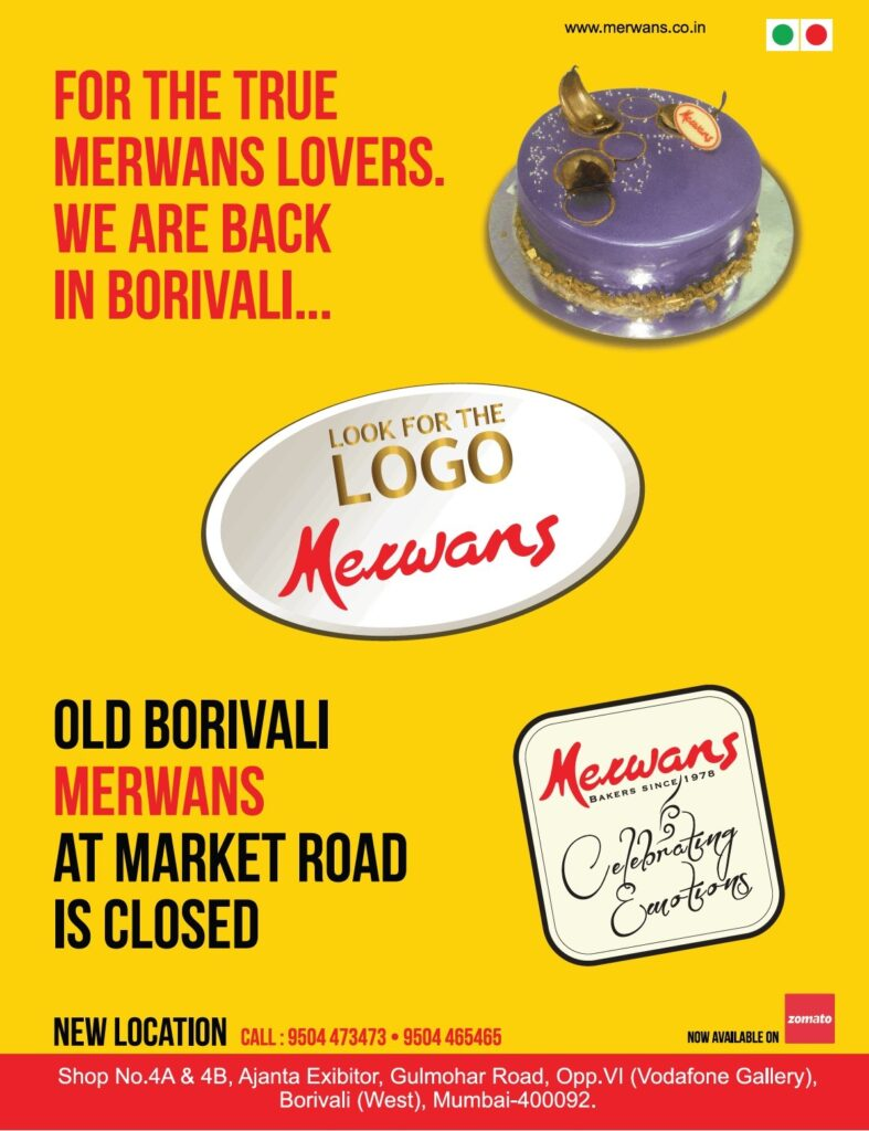 Merwans cake shop Borivali
