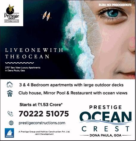 Prestige ocean crest goa