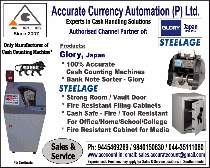 Manufacturer of Cash Counting Machine