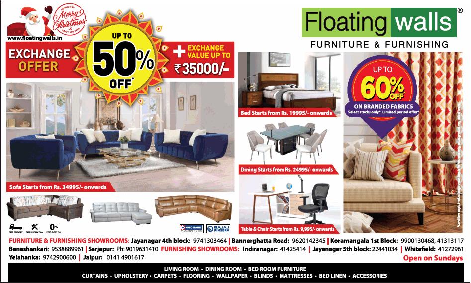 Floating walls furniture