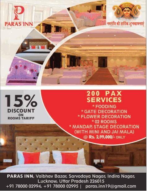 Paras inn hotel Lucknow