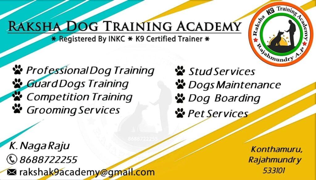 Dog training centers in Rajahmundry