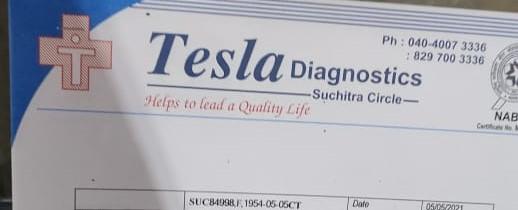 Tesla diagnostics suchitra circle