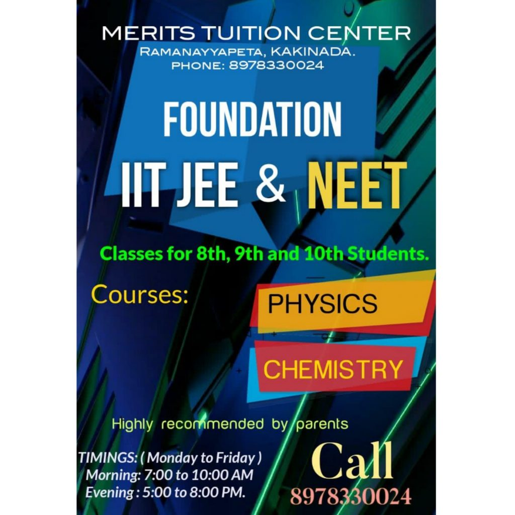 classes for 8th,9th and 10th students.