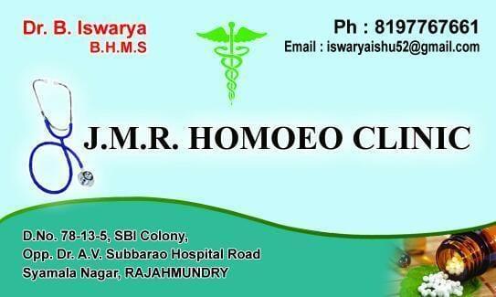 JMR Homeo Clinic Rajahmundry
